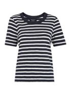 Rosa Stripe Double Trim Tee