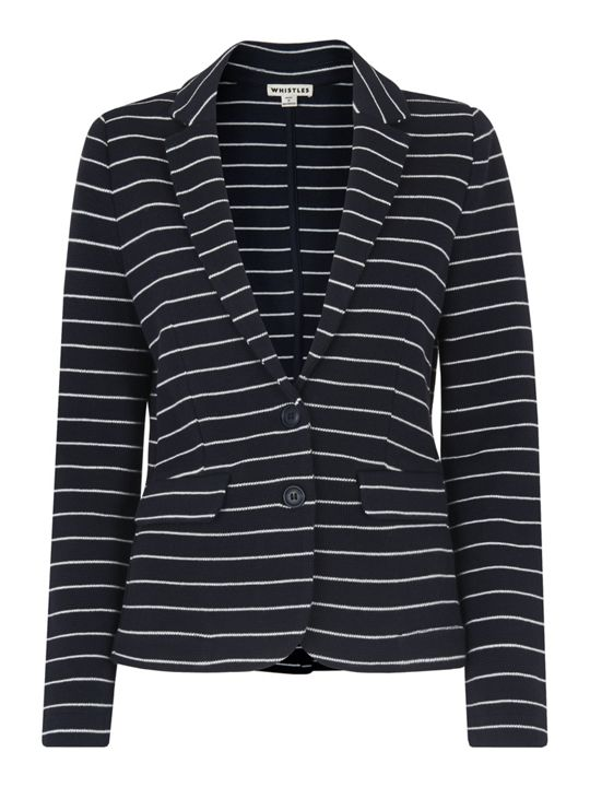Whistles Stripe Jersey Jacket