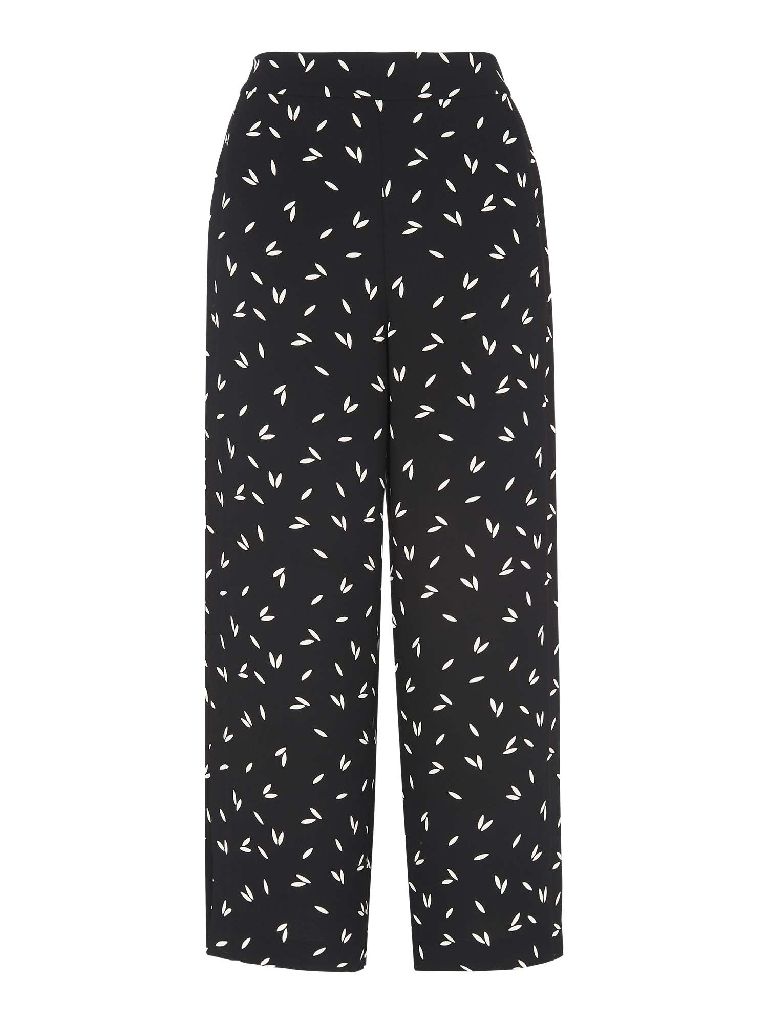 Wide Crop Printed Trouser Leg Whistles qXEzw