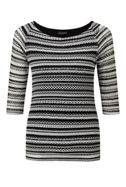 James Lakeland Striped Openwork Top