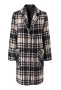 James Lakeland Check Wool Mix Coat