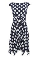 Roman Originals Spot Print Fit and Flare Dress