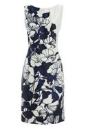 Roman Originals Satin Floral Printed Dress