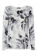 Roman Originals Monochrome Floral Jumper