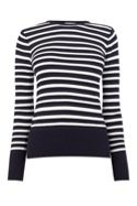 Warehouse Stripe Pointelle Jumper