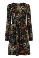 Warehouse Songbird Print Channel Dress