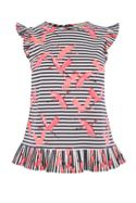 Oasis Stripe Flamingo Shell Top