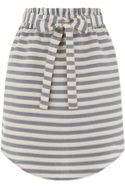 Stripe Paperbag Skirt