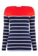 Oasis Pop Bretton Stripe Envelope Neck Top