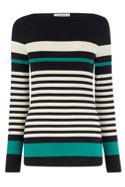 Duffy Stripe Long Sleeve Boatneck Tee