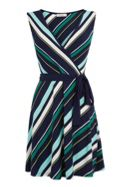 Oasis Stripe wrap dress
