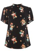 Oasis Bouquet Floral Angel Sleeve Top