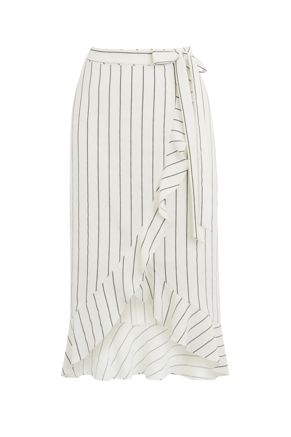 Linen Look Pinstripe Skirt by Oasis