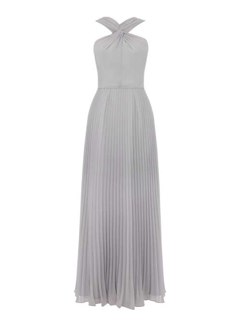 Oasis Twist Neck Pleated Maxi Dress - House of Fraser 5f556051f