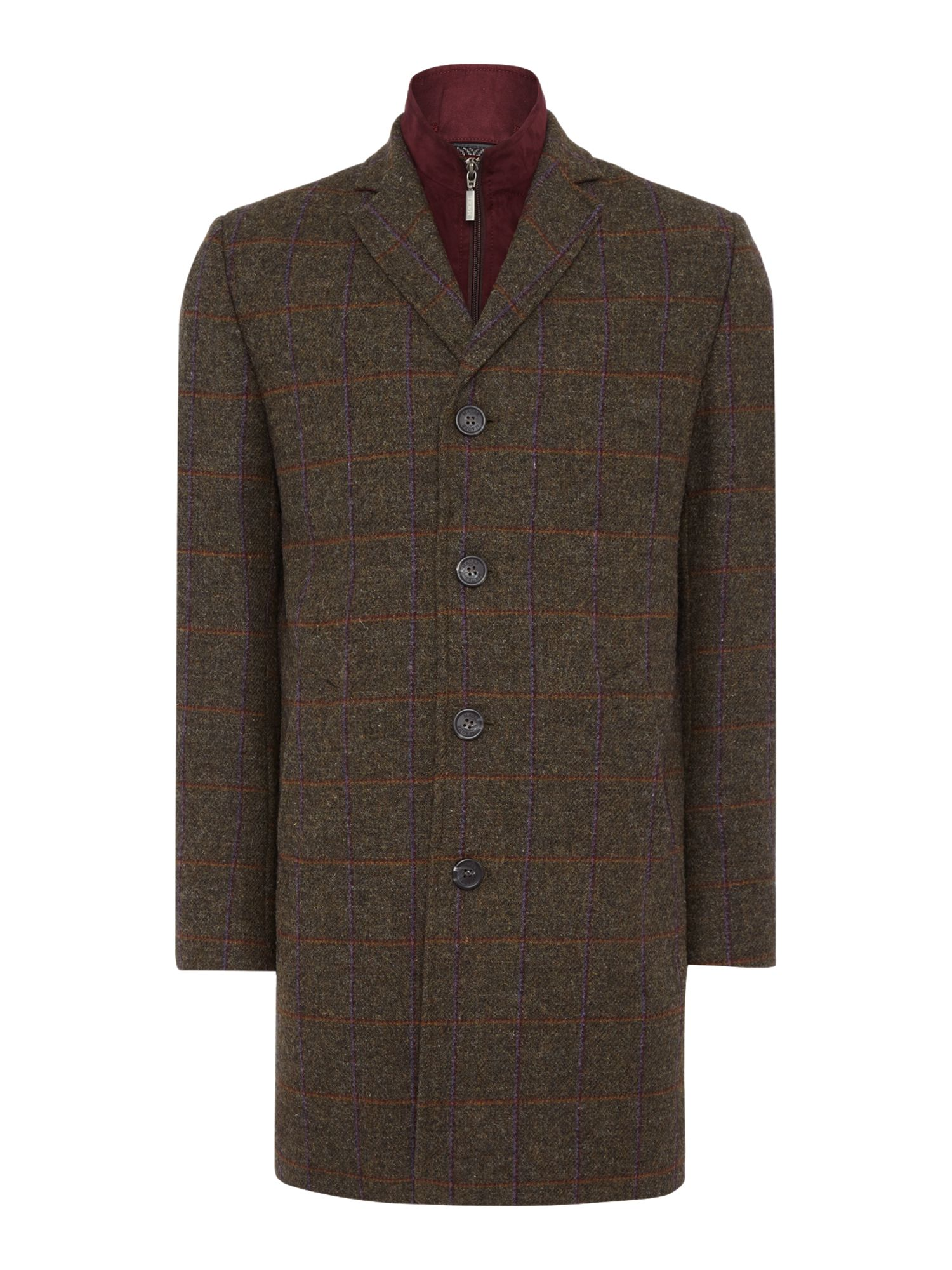 Men's Vintage Style Coats and Jackets Mens Magee Magee tweed overcoat £299.00 AT vintagedancer.com
