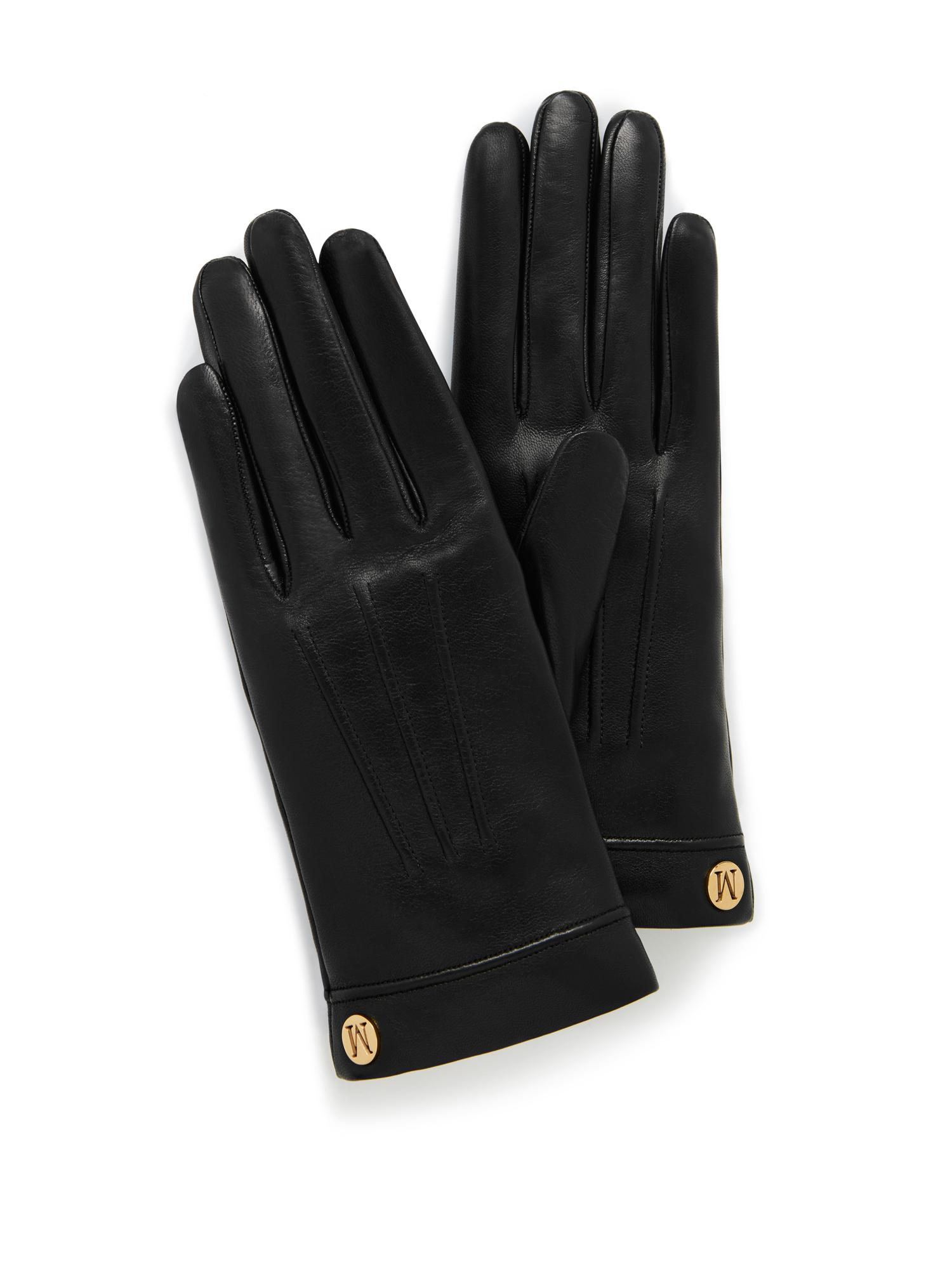Ladies leather gloves designer - Mulberry Soft Nappa Leather Gloves
