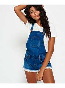 Cheap Sale Inexpensive Outlet Eastbay Dot Button Through Dungaree Shorts Superdry n5U2tt
