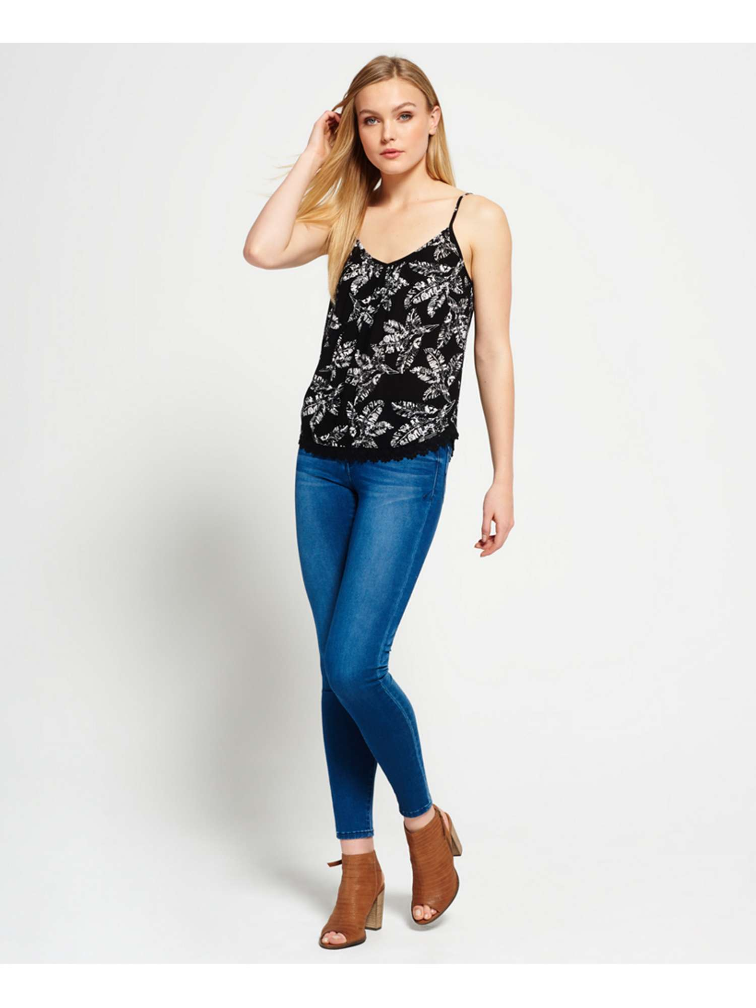 Cami Essential Lacy Superdry Essential Top Superdry 0IqnaERn