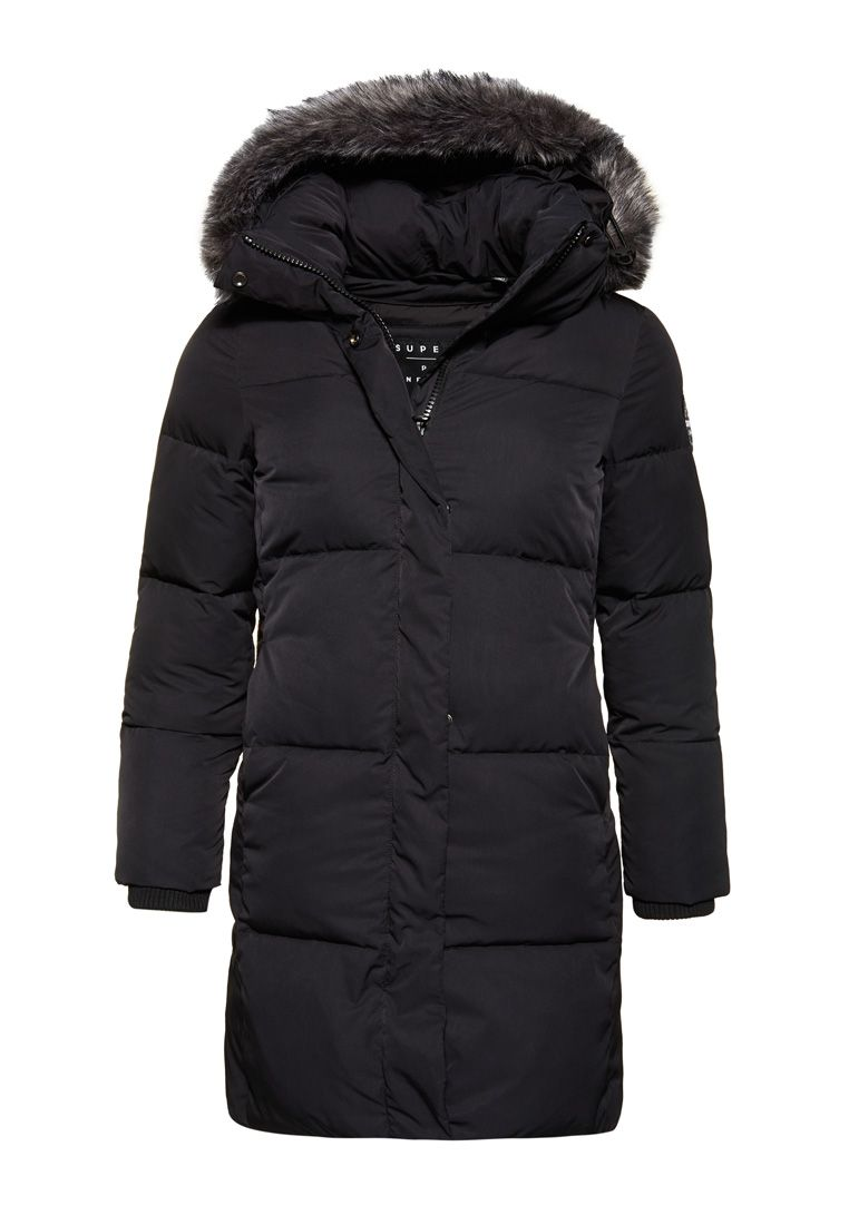 Superdry black and white coat