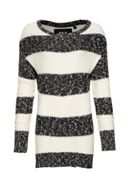 West Textured Stripe Knit Jumper