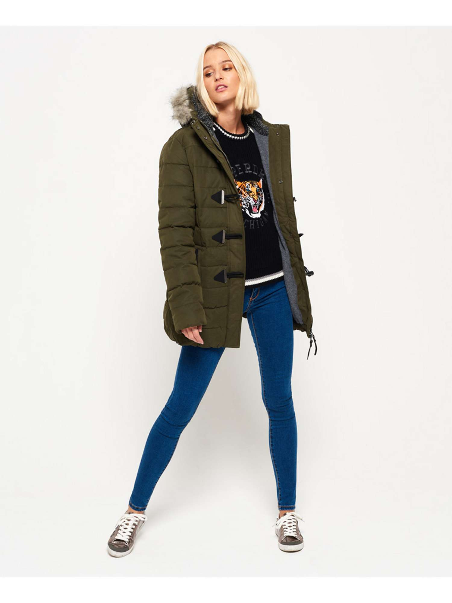 Toggle Microfibre Puffle Jacket Tall Superdry Px7wzTq1