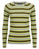 Cotton Rib Neon Stripe Sweater