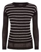 Linen Stripe Overlay Sweater