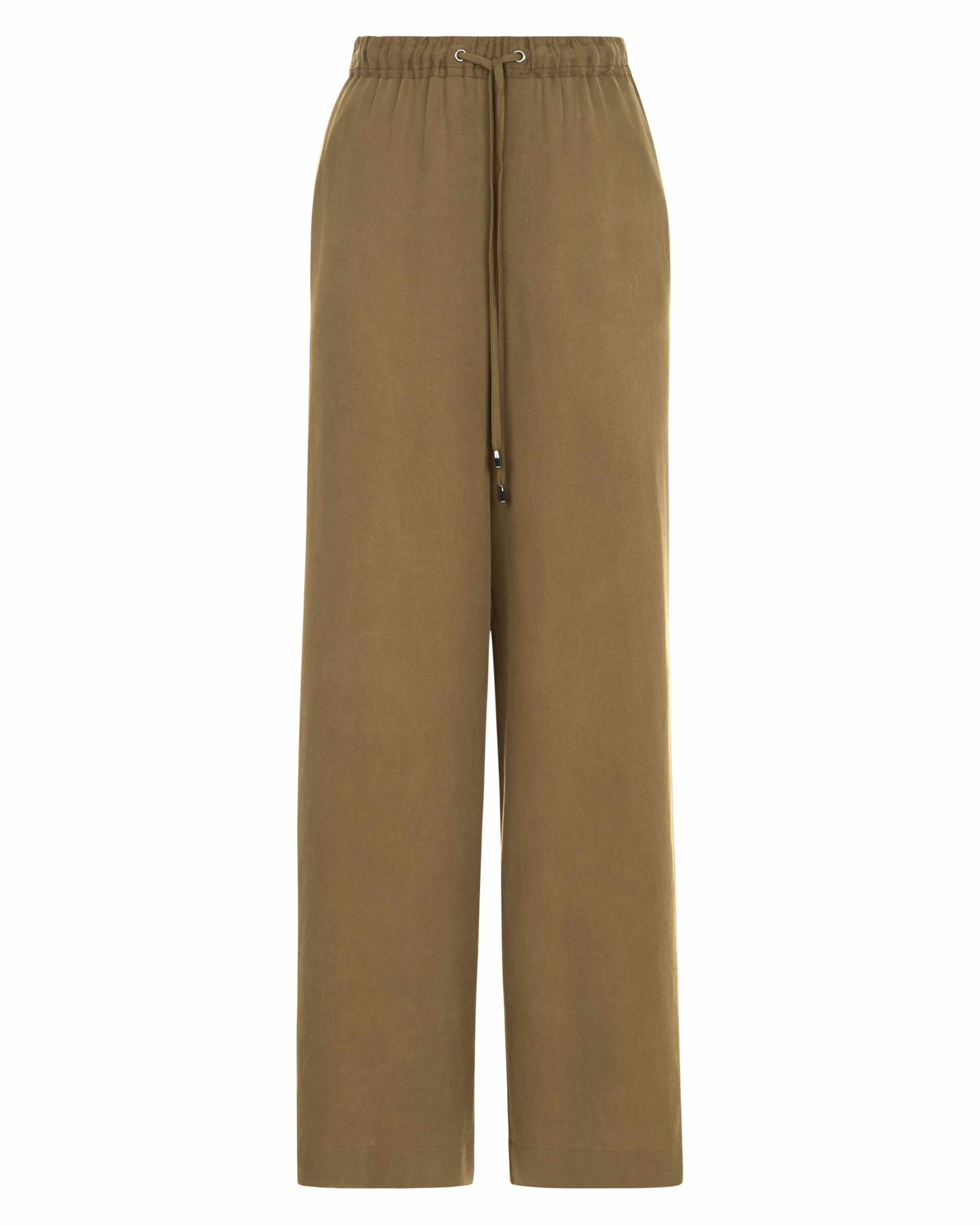 Lyocell Wide Leg Trousers by Jaeger