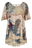 Izabel London Abstract Print Tunic Top