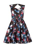 Izabel London Floral Fit-And-Flare Dress