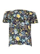 Izabel London Floral Bardot Top