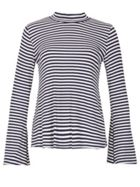 Izabel London Stripy Flare Sleeve Top