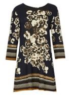 Izabel London Floral Print Knit Dress