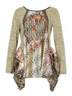 Izabel London Contrast Print Tunic Top