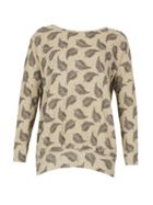 Izabel London Feather Print Sweatshirt