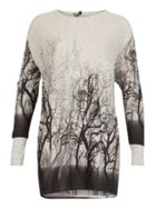 Faded Forest Print Top