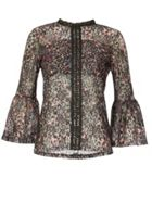 Izabel London Floral Printed Lace Top