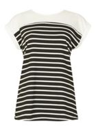 Izabel London Roll Up Sleeve T-Shirt Top