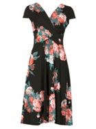 Izabel London Pleat Front Floral Midi Dress