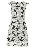 Izabel London Printed Lace Skater Dress