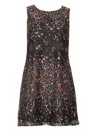 Izabel London Floral Printed Lace Shift Dress