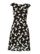 Izabel London Butterfly Print Skater Dress