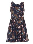 Izabel London Detailed Floral Swing Dress