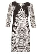 Izabel London 34 Sleeve Monochrome Print Dress