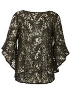 Izabel London Bell Sleeve Lace Top
