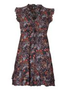 Izabel London Frilled Sleeve Blossom Print Dress