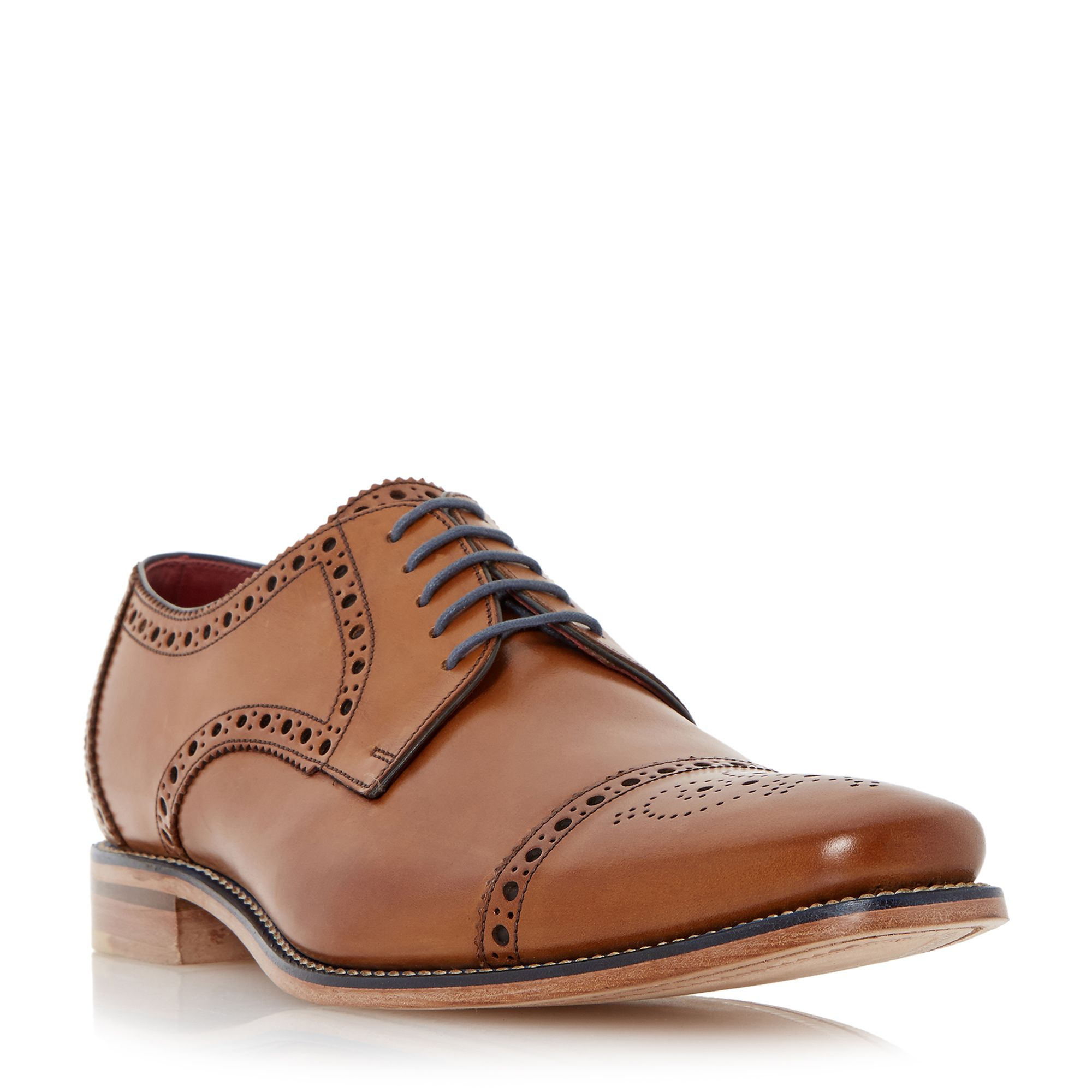 Loake Foley brogue toecap leather gibson shoes ...