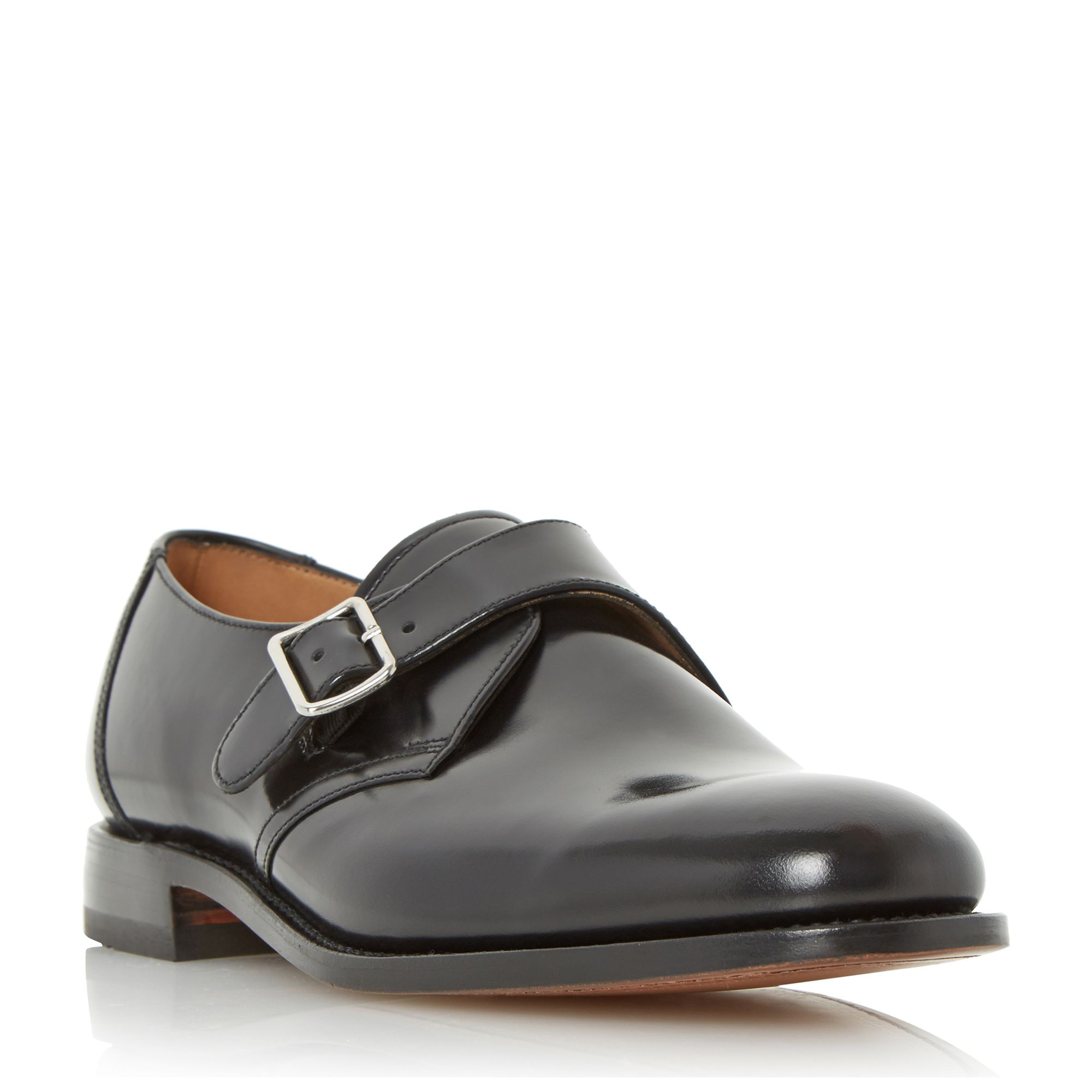 Loake 204b single buckle leather monk shoes ...