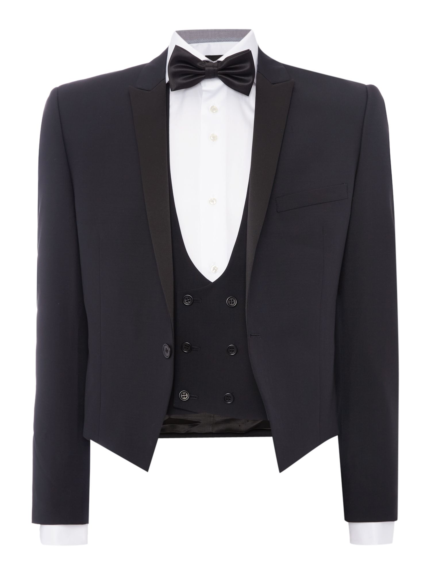 New Vintage Tuxedos, Tailcoats, Morning Suits, Dinner Jackets Mens Paul Costelloe Slim Fit Black Three Piece Tuxedo Black £209.30 AT vintagedancer.com