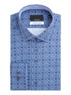 Tim Geometric Print Cotton Shirt